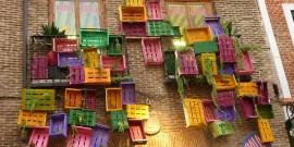 cajas en la pared